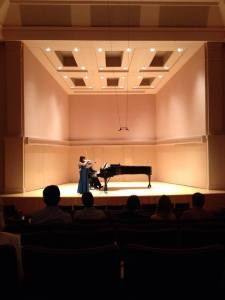 Performing Corigliano Violin Sonata in solo recital, March 2014