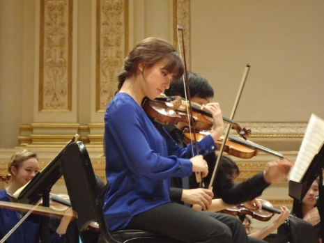 Warming up in Carnegie Hall